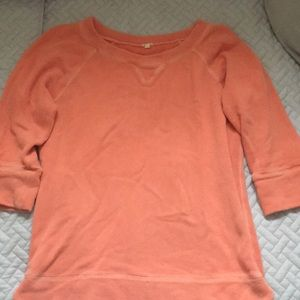 Vacation sweatshirt JCrew style in Sunset orange